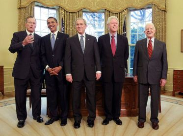 Bush Hosts Obama, Former Presidents At White House Luncheon